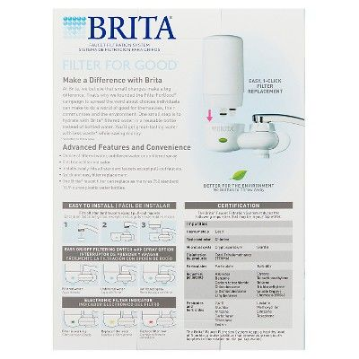 Brita On Tap Faucet Water Filter System - White
