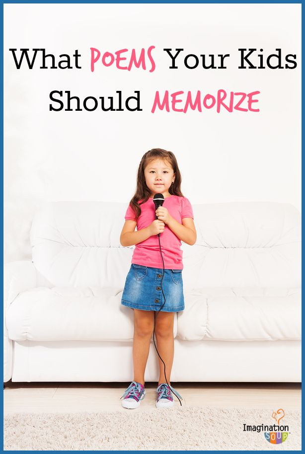 silly, serious, & meaningful poems your kids can memorize for Poetry Month