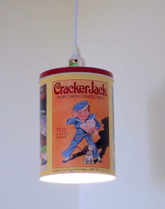 cracker jack tin plug in pendant light