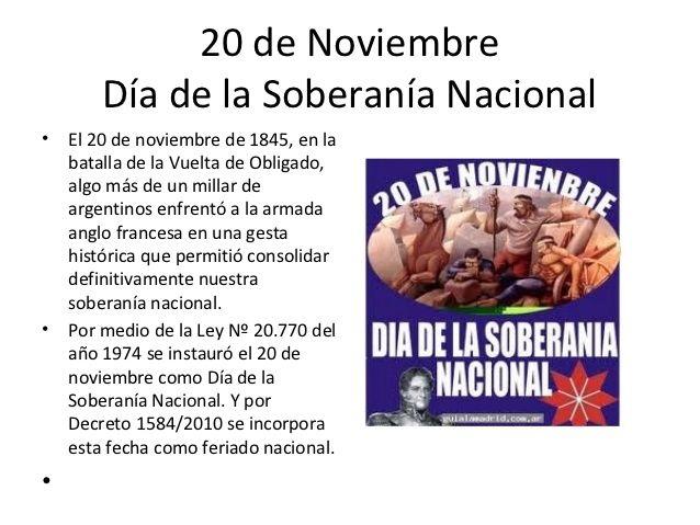 Resultado de imagen para imagenes de 20 de noviembre dia de la soberania nacional