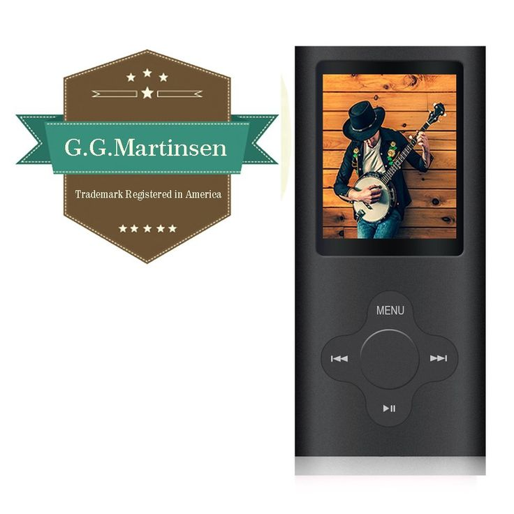 G.G.Martinsen Plum Button 1.78 LCD MP3/MP4 16 GB Portable MP3Player , MP4 Player , Video Player , Music Player , Media Player , Audio Player (Black)