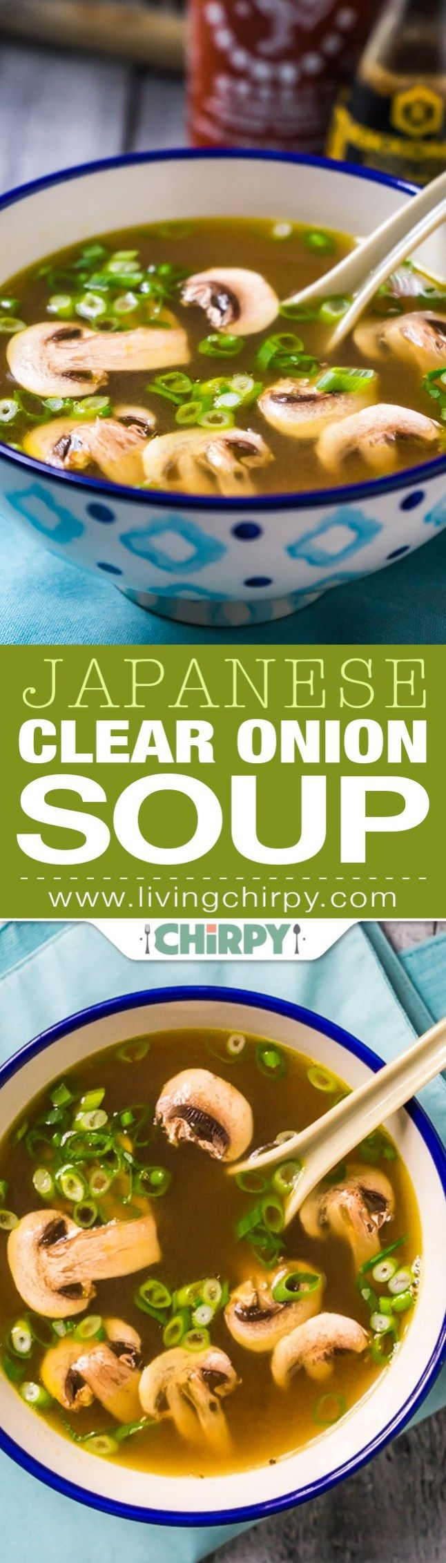 The Perfect Japanese Clear Onion Soup Recipe   Living Chirpy - The BEST Homemade Soups Recipes - Easy, Quick and Yummy Lunch and Dinner Family Favorites Meals Ideas