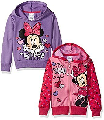 Disney Girls' Minnie 2 Pack Hoodies, Pink, 6X by Disney for $27.99 http://amzn.to/2giv0KV