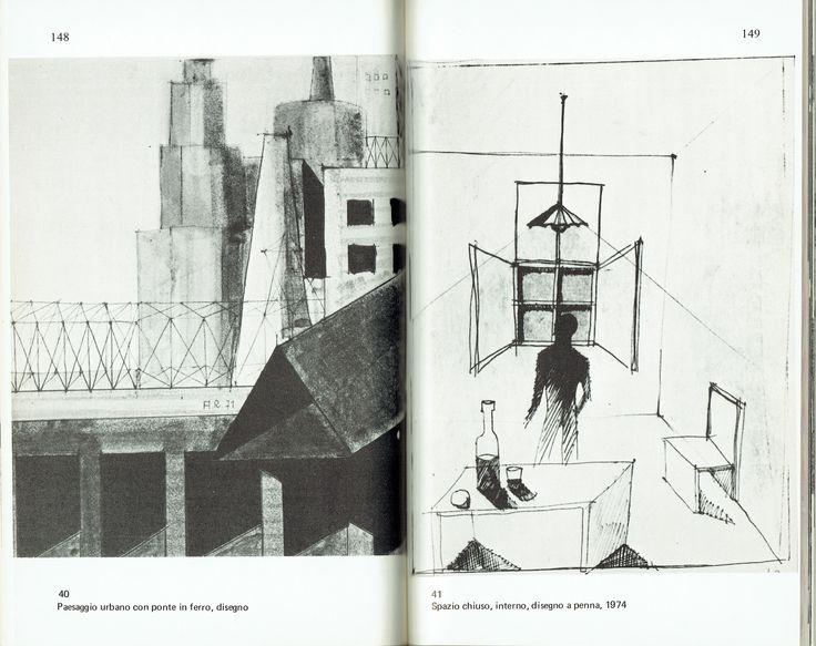 Aldo Rossi, Spazio Chiuso, interno, 1974 (Vittorio Savi, L'architettura di Aldo Rossi, Milano, Franco Angeli, 1976, p. 149)