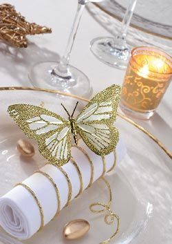 Butterfly table accent