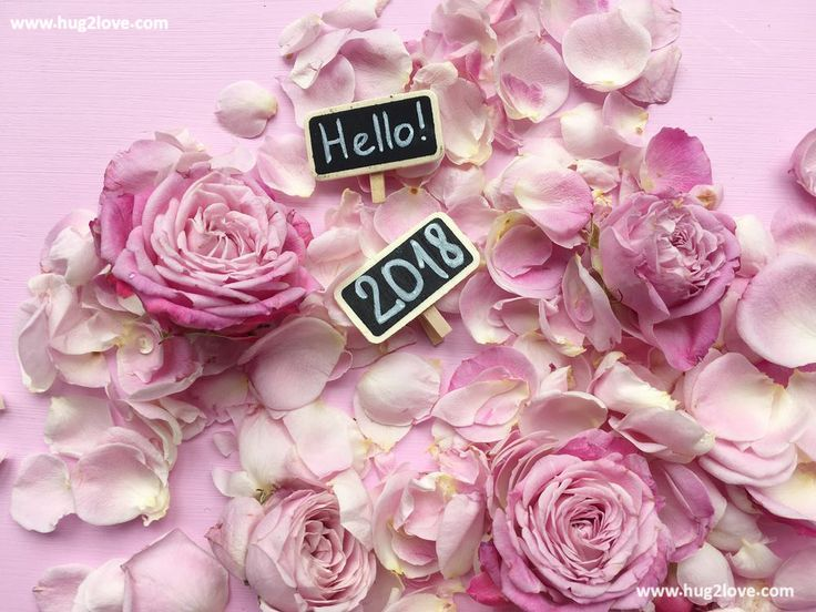 Hello 2018 New Year Image Flower Source: Katicabalogh