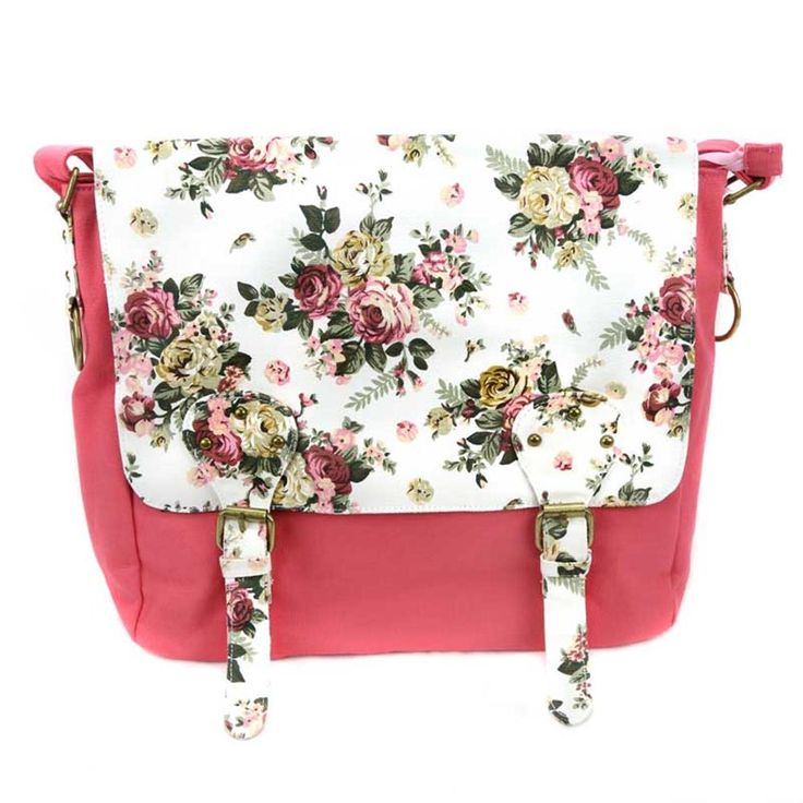 Pink Floral Sister Missionary Tote | Found on LDSBookstore.com | This cute missionary bag is perfect for that sister you know.