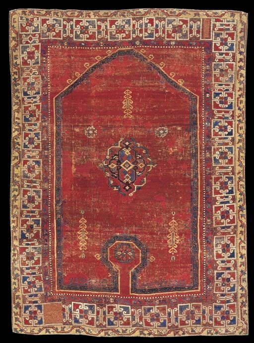 Wher Collection Bellini re entry carpet, first half XVI century, Ottoman Turkey (Western Anatolia), Phildelphia mUsuem of Art, Philadelphia, 1988, p.78).
