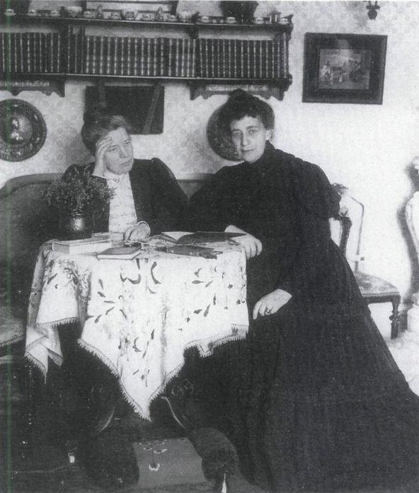 Sophie Elkan & Selma Lagerlöf, 1908.