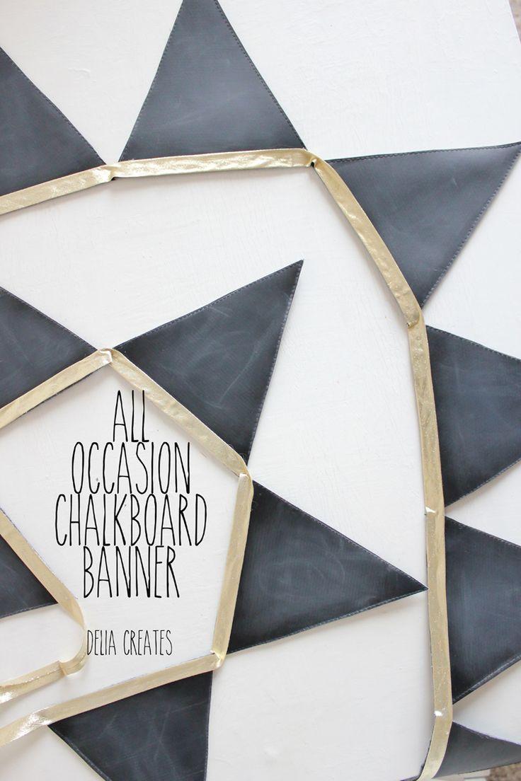 DIY all occasion chalkboard banner