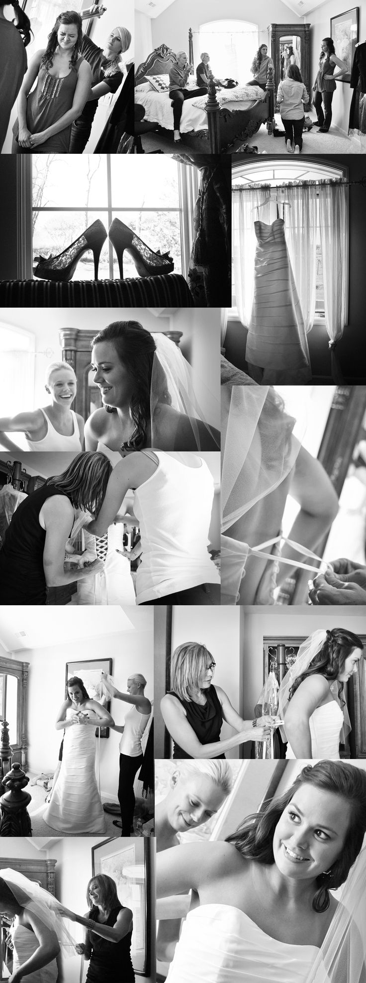 Bride getting ready... A must... Loved my sisters pics of her wedding like this.