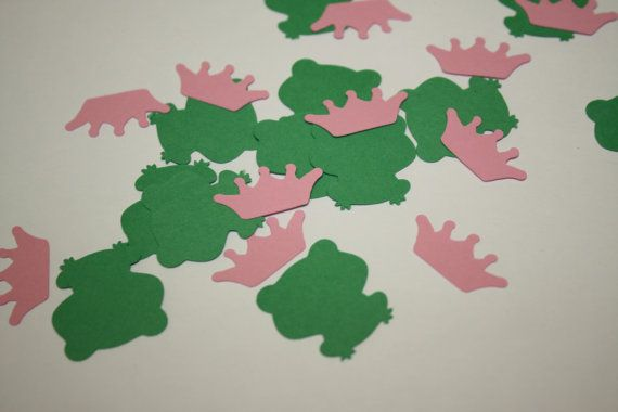 Ready to Ship Frog Princess Die Cut Confetti  200 pieces