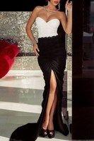 Dámske dlhé šaty - biele čierne