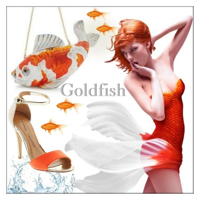 Goldfish! by whirlypath on Polyvore