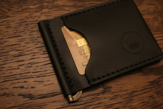 Money clip bifold wallet slim wallet mens front от MenEvolution