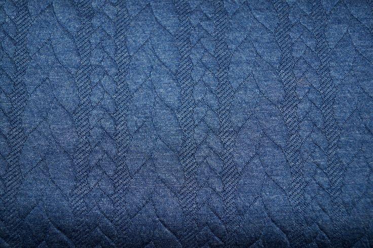 KN16/17 13423-695 Tricot kabel blauw gemeleerd