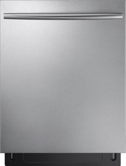 "Samsung - Stormwash 24"" Top Control Built-In Dishwasher - Stainless Steel - Front Zoom"