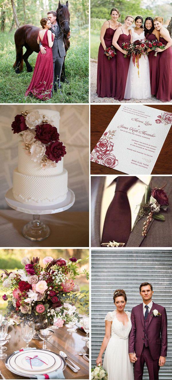 Matrimonio Marsala - Wedding Marsala Pantone 2015