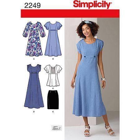style dress patterns free 70th