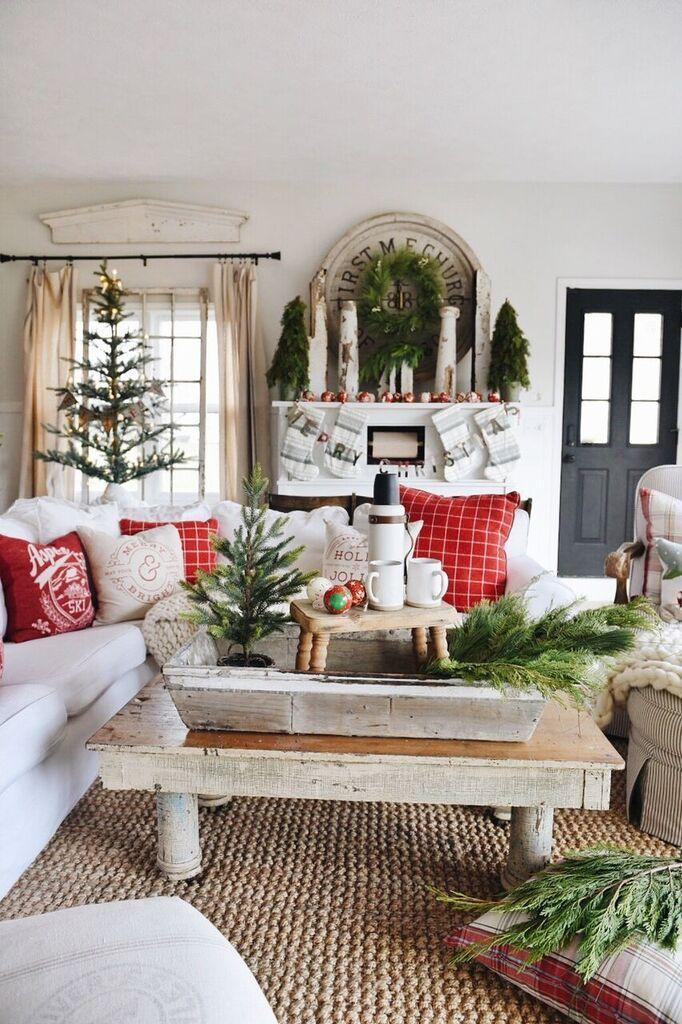 astounding black white christmas living room | 1459 best Black & White Gingham Christmas images on ...