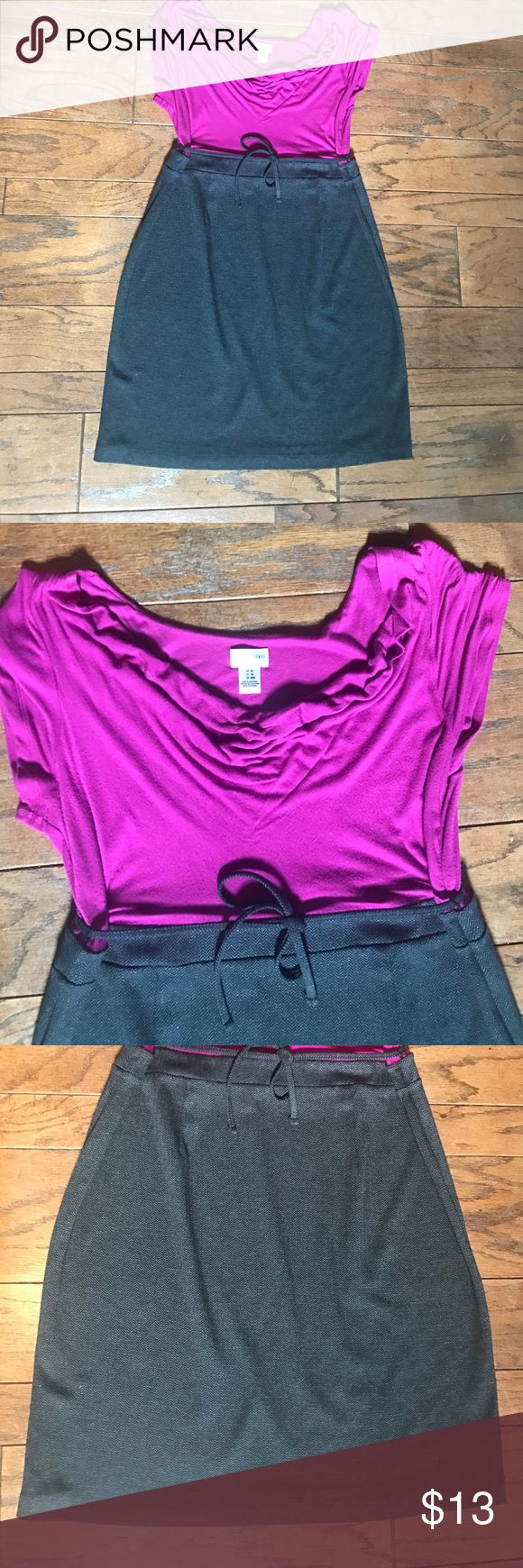 Motherhood pink/grey maternity dress GUC pink/grey maternity dress. Size XL Motherhood Dresses Midi