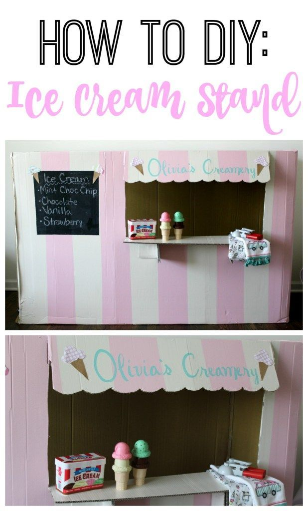 the cutest and easiest DIY Ice cream stand