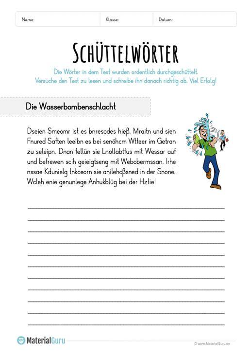 buchstabensalat  materialguru  lernen deutsch