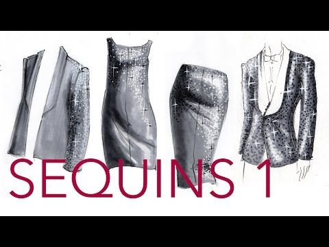Marvelous Fashion Illustration Tutorial: Sequins (Part 1/2)   YouTube