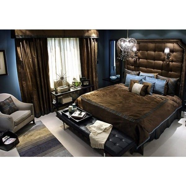 Chocolate Brown And Blue Bedroom Designs Found On Polyvore