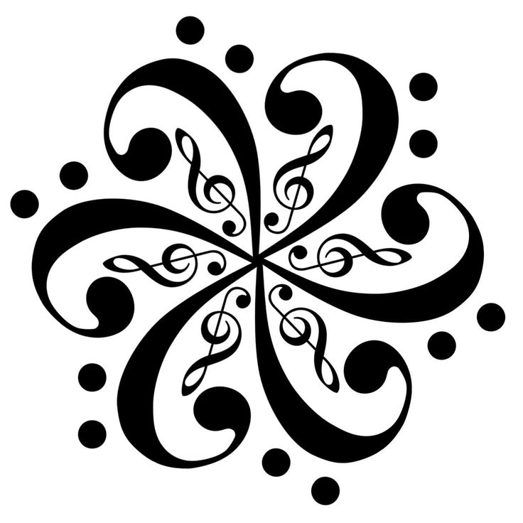 Music Notes Design Coloring pages music notes