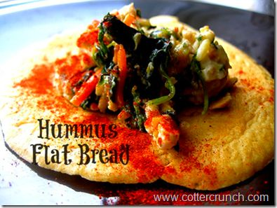 Friday PUMP: Burpees and Brown Bags (aka Lunches to go) Hummus Flatbread Recipe