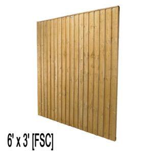 6 X 3 Feather Edge Fence Panels