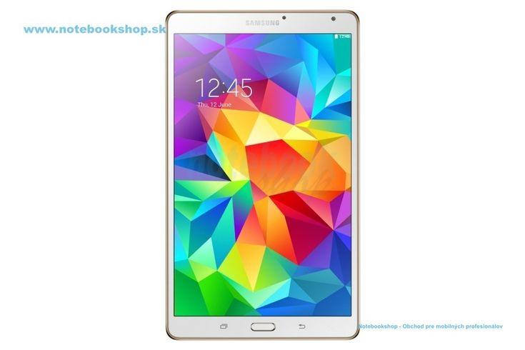 """Samsung Galaxy Tab S 8.4 T700 WiFi - Prémiový tablet s vynikajúcim 8.4"""" Super Amoled displejom. S tabletom GALAXY Tab S budú vaše zážitky pri sledovaní obrazu naozaj výnimočné. Jeho brilantný displej Super AMOLED ponúka vernú reprodukciu farieb, ktorá na rozdiel od LCD displejov s podporou 73% škály farieb Adobe RGB podporuje až 94% jej farieb. Dostupný v bielej a zlatohnedej (bronzovej) farbe."""