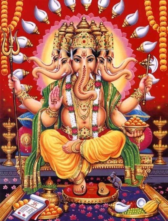 Heramba Ganapati. Ganesha Panchamukha
