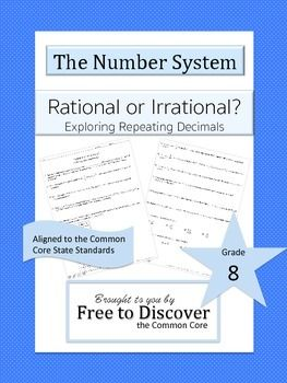 In this activity, students will learn to distinguish between rational and irrational numbers. Students will also be able to convert repeating decimals to fractions and fractions to repeating decimals. Brought to you by Free to Discover.