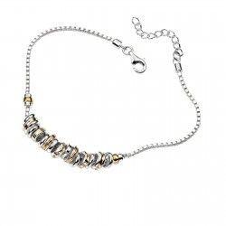 Silver & Gold Beads Bracelet #silver #jewellery