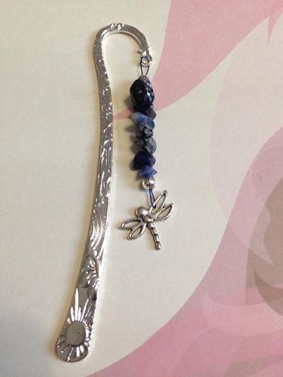 Hand made Sodalite crystal gemstone healing bookmark by Divine Aura $5.95 via www.divineaura.com.au Or follow me on Facebook @ www.facebook.com/divineaura123 *****SOLD OUT*****