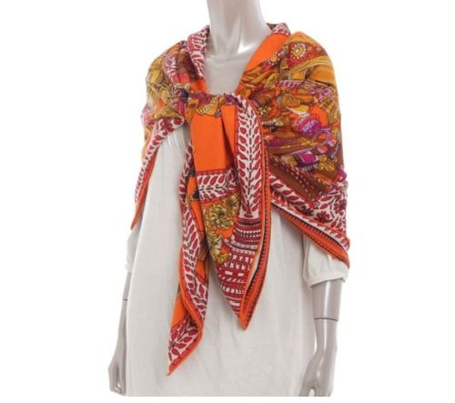 Hermes Scarf Cashmere/Silk Carre LA DANSE DU CHEVAL MARWARI NWT Auth #Hermes #Scarf
