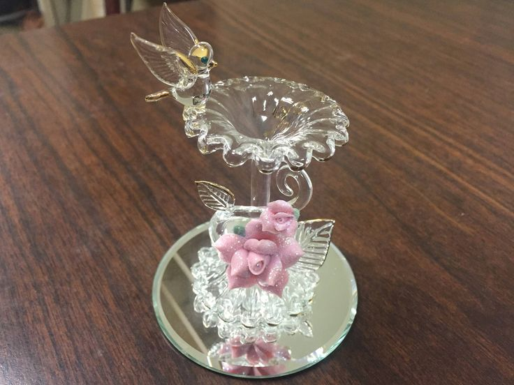 Glass Baron Bird Bath Bird Bath by CreamersShop on Etsy https://www.etsy.com/listing/512574192/glass-baron-bird-bath-bird-bath