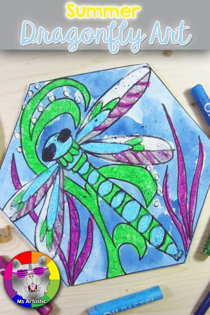 Summer Art Project Dragonfly Art Projects for Summer Ms