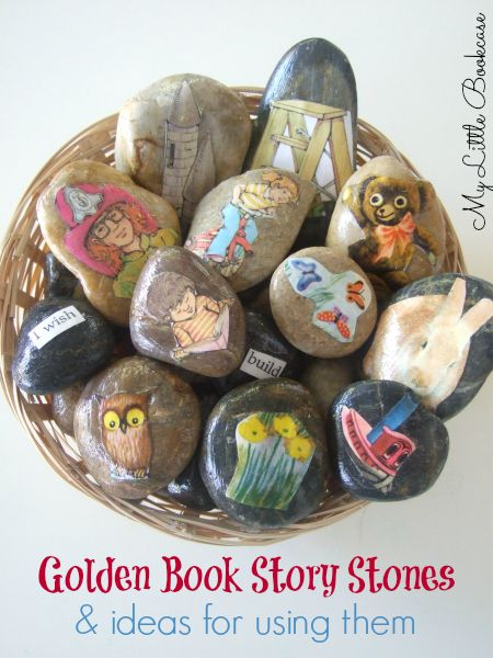 Golden Book Story Stones by My Little Bookcase. This is an innovative way of extending story reading with inexpensive resources. You could also download pictures of traditional tales cheaply and use in the same way.