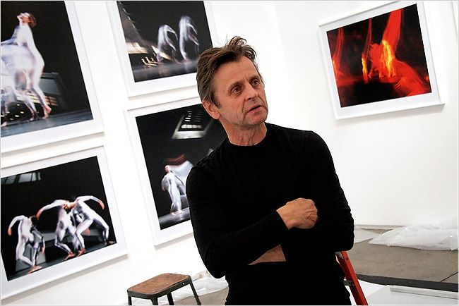 "Mikhail Baryshnikov and his photographs of Merce Cunningham dancers, which capture their movement. He acknowledged his work's painterly touches, saying of one photograph, ""That's my Francis Bacon moment."" 2008"