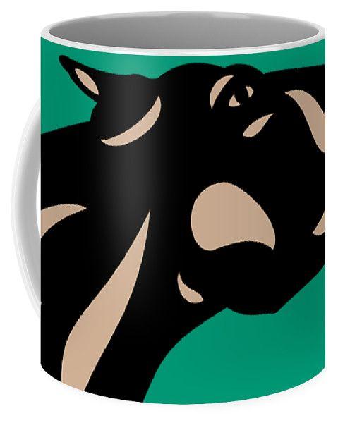 Coffee Mug | Fred - Pop Art Horse - Black, Hazelnut, Emmerald by Manuel Süess | Learn more: http://artprintsofmanuel.com/products/fred-pop-art-horse-black-hazelnut-emerald-manuel-sueess-coffee-mug.html