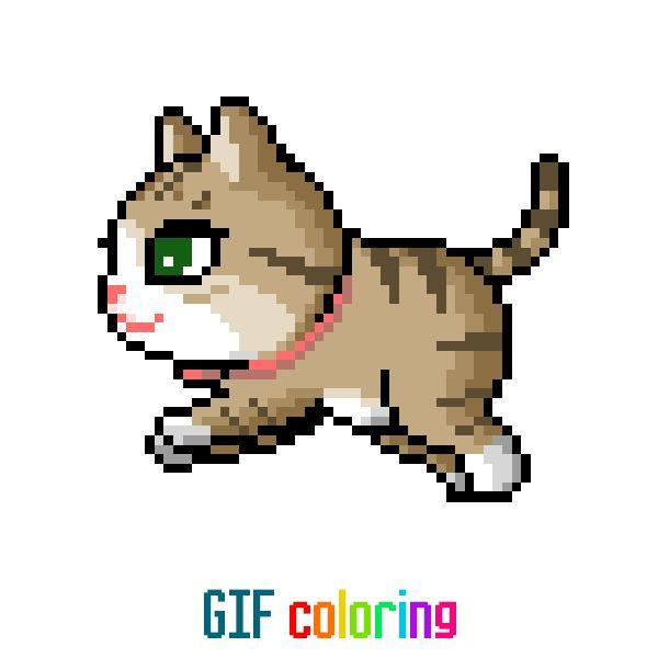 Анимация котенок идет