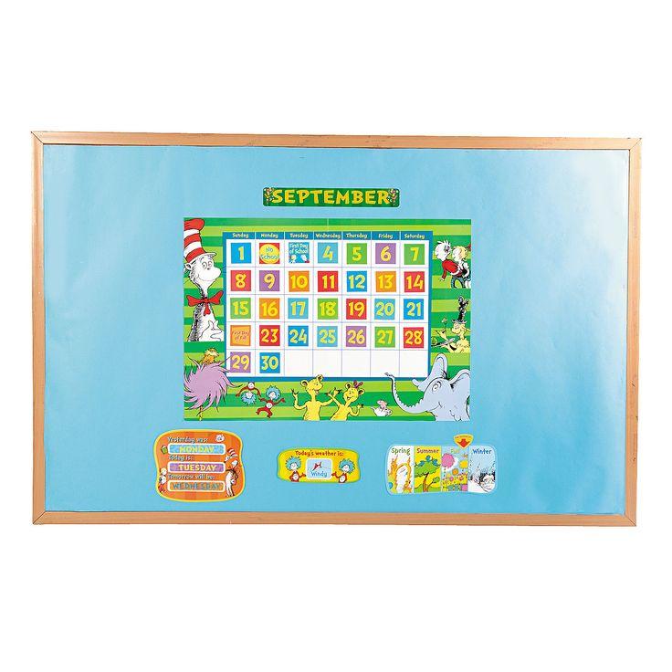 Dr. Seuss™ Calendar Bulletin Board Set - OrientalTrading.com