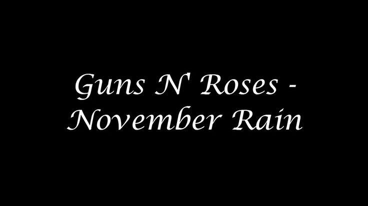 Guns N' Roses - November Rain ( Inglés - Español ) + ( Clip Solos ) HD 7...