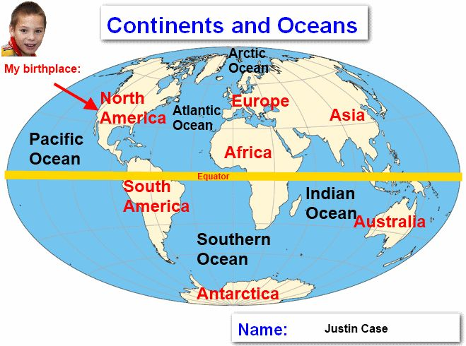 The Best World Map With Continents Ideas On Pinterest World - Map showing continents and oceans
