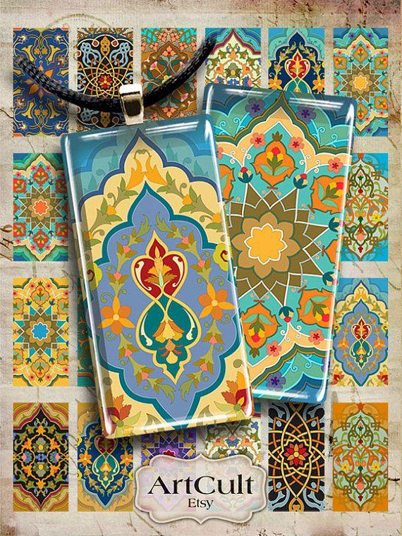 Tamaño de 1 x 2 pulgadas de Marruecos Digital Collage por ArtCult