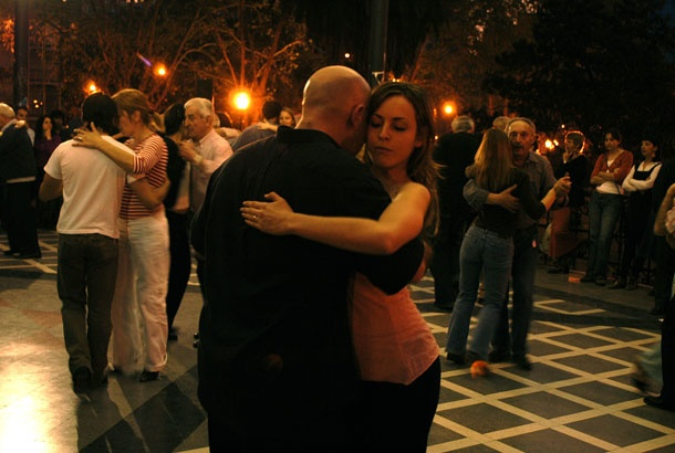 TANGO: Dancing at the open air milonga at La Glorieta de Belgrano -  weekend evenings. (Fotografía de Alejandra López.) This is where Sallycat met her man, and is the location of the photo on the cover of her book Happy Tango (http://www.amazon.com/Happy-Tango-Sallycats-Dancing-Buenos/dp/0956530605). Go to watch even if you don't dance yourselves. (Preview at http://www.youtube.com/watch?v=9MFqXQeWK_o) Chinatown is across the road when you get hungry.