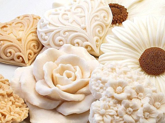 More beautiful soaps!    Decorative Gift Soap  Blooming Beige Collection by SoapRhapsody, $16.00